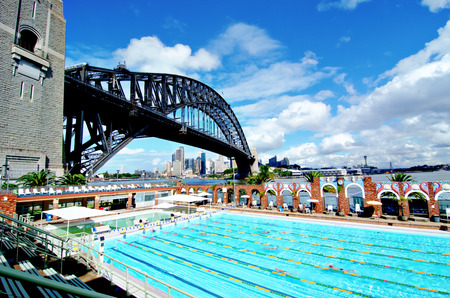 Sydney, Harbour Bridge and Olympic Swimming Pool