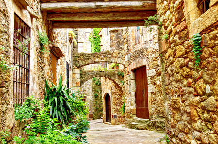 pals: Old Gothic Village Pals, Costa Brava, Catalonia, Spain