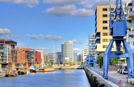 Hamburg, Germany, New Harbour City at a summer day
