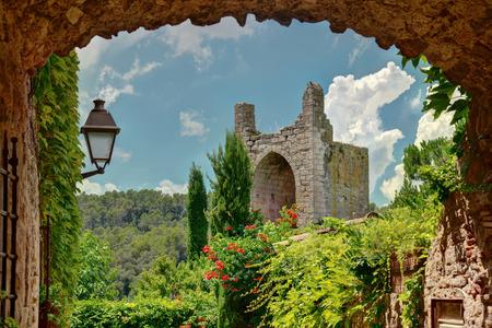 Peratallada, Costa Brava, Cataonia, Spain  view from famous square