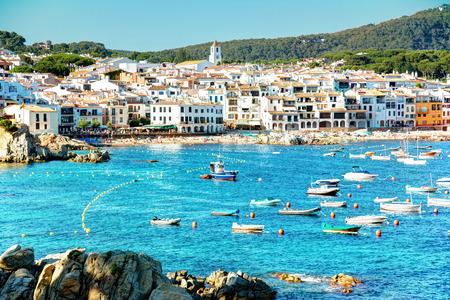 Calella de Palafrugell at a summer day, Costa brava, Catalonia, Spain