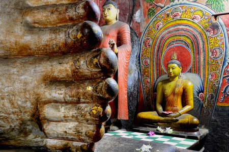 Dambulla cave temples photo
