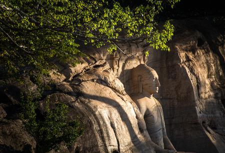 gal: Polonnaruwa, seated Buddha in meditation at Gal Vihara Rock Temple (Gal Viharaya), Sri Lanka