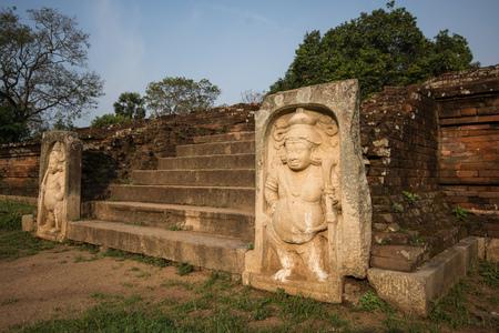 Ancient City of Anuradhapura, statue at The Royal Palace, Cultural Triangle, Sri Lanka, Asia