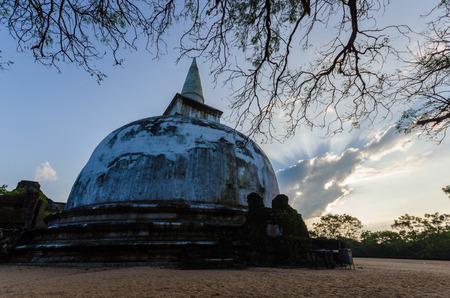 This large stupa known as the Kiri Vehera of Polonnaruwa, Sri Lanka