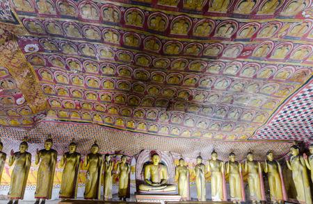 Ancient cave temple at Dambulla, Sri Lanka