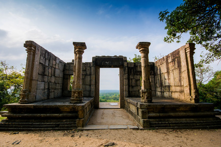 Yapahuwa was one of the ephemeral capitals of medieval Sri Lanka. The citadel of Yapahuwa lying midway between Kurunagala and Anuradhapura.