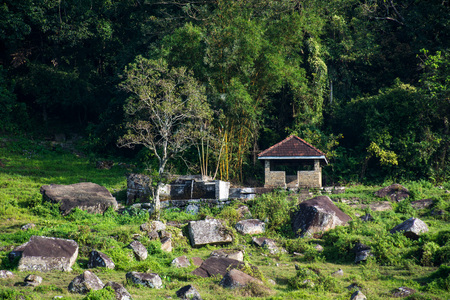 ranamura waterspout (bathing place) and rest house in kotmale, sri lanka, which dated back to kings era.