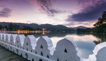 The Clouds Wall (Walakulu Wall) at Kandy Lake, Kandy, Sri Lanka