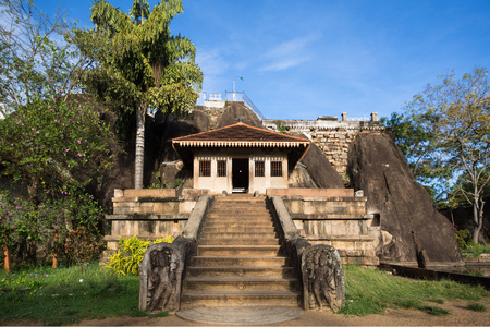 Isurumuniya Vihara, a Buddhist cave temple at the Sacred City of Anuradhapura, Cultural Triangle, Sri Lanka, Asia