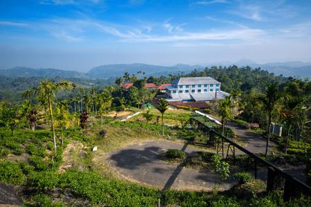 Tea factory in Nuwara Eliya, Hill Country in Central Sri Lanka Imagens