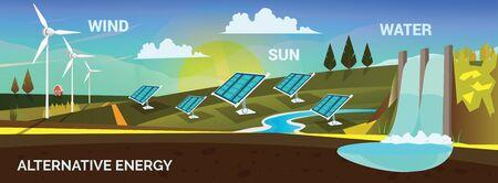 alternative energy, vector illustration