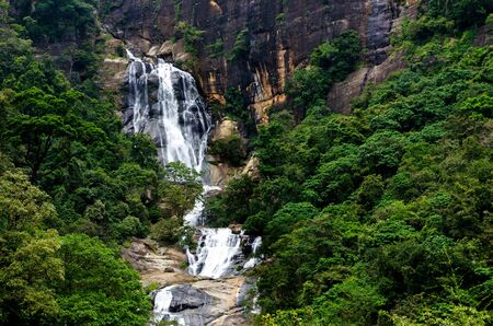 Ravana Falls is a popular sightseeing attraction in Ella, Sri Lanka. It currently ranks as one of the widest falls in the country.