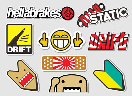 Japanese Car Decals, and Stickers in Vector format