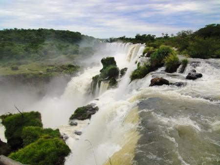 wasser: Wasserfal an den Cataratas Iguazu  Argentinien Stock Photo