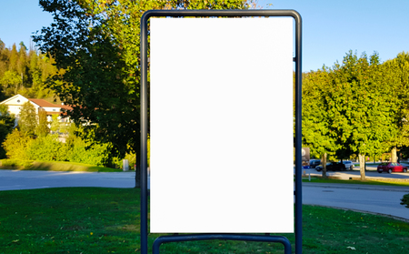 Large Blank Outdoor Advertisement Banner Sign