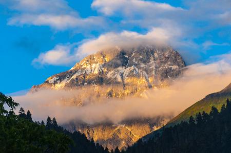 Jinding snow mountain Stock Photo