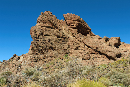 Hiking in the Teide National Park in Tenerife (Canary Islands, Spain, Europe) Stock Photo