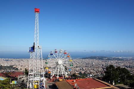 ferriswheel: Tibidabo, Barcelona, Spain