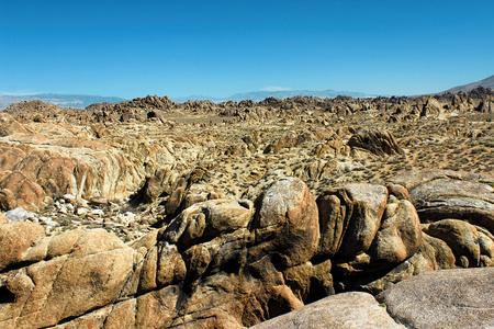 Alabama Hills, Sierra Nevada Mountains, California, USA Stock Photo