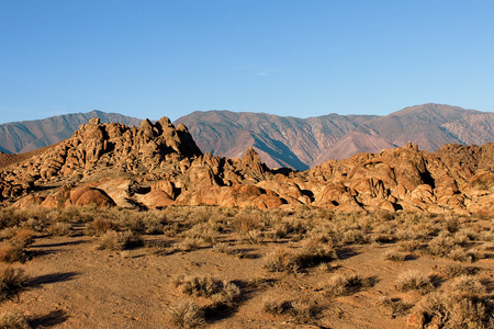 Alabama Hills, Sierra Nevada Mountains, California, USA Stock Photo