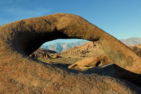 Mobius Arch in Alabama Hills, Sierra Nevada, California, USA Stock Photo