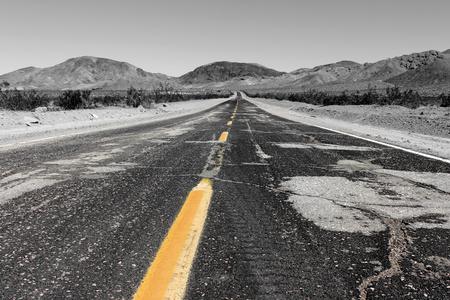 Road to Lone Pine in the Alabama Hills, Sierra Nevada, California, USA
