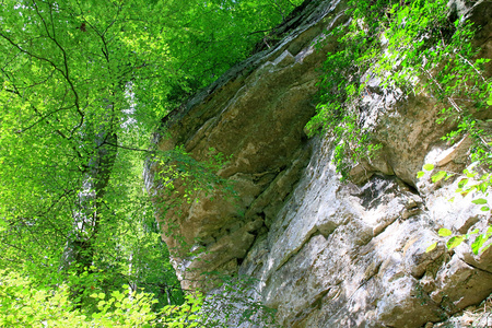 Mullerthal Trail, Schiessentumpel Waterfall, Luxembourg Stock Photo