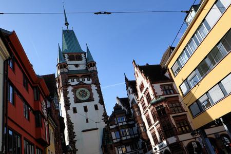 freiburg: The Martinstor in Freiburg, Germany Stock Photo