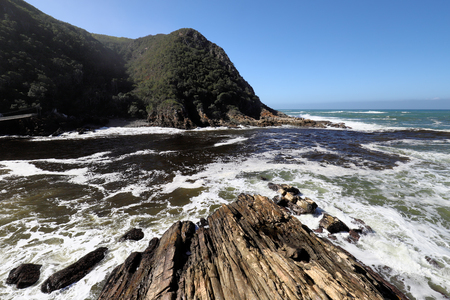 skirts: Rocky coast line in Storms River in Tsitsikamma National Park, South Africa