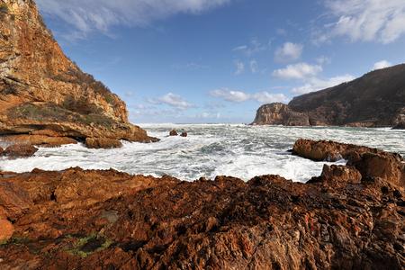 Rocky coastline near the Knysna Heads, South Africa