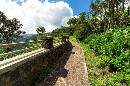 Panoramablick auf den Black River Gorges National Park, Gorges Viewpoint in Mauritius.