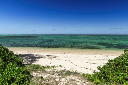 Amazing beach in the southwest of Mauritius island, Africa