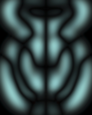 womanhood: The shape of womanhood, abstract background blurred in light-blue and black  Stock Photo