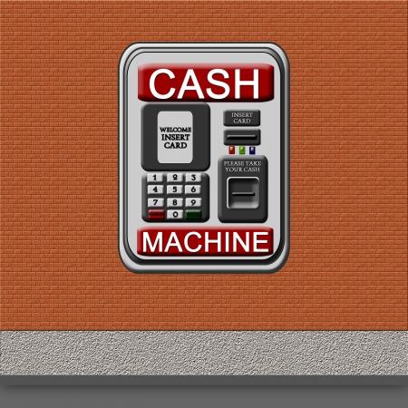 cash machine: Through-the wall ATM Cash Machine Stock Photo