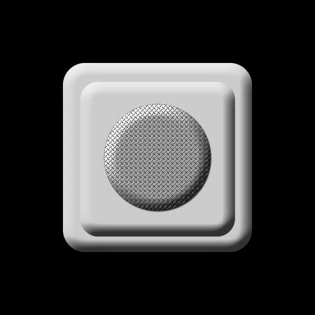 poweron: Press Button Silver mounted