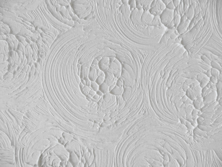 White Artex Ceiling                                Stock Photo