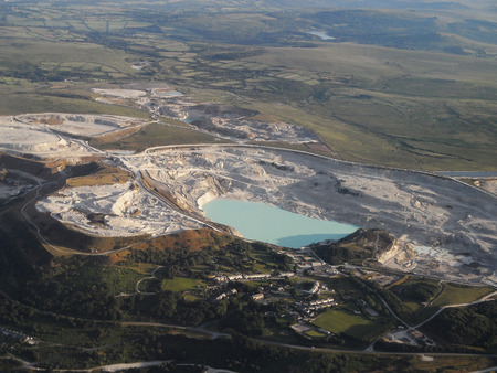 pits: China Clay workings from the Air