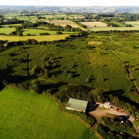 landfall: Fields from the Air Stock Photo