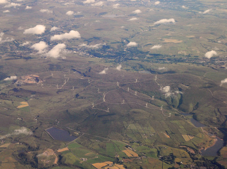 landfall: Wind Farm from the Air Stock Photo