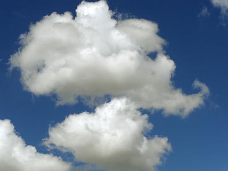 Clouds in a blue sky photo