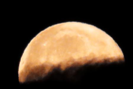 crescent: Golden Moon Crescent Stock Photo