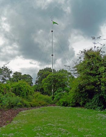 flag pole: Lawn with Flag Pole