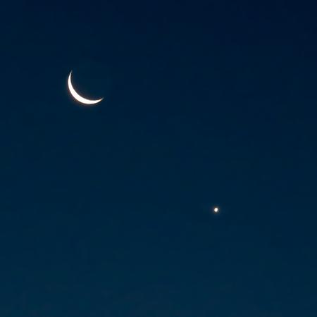 新月と金星朝