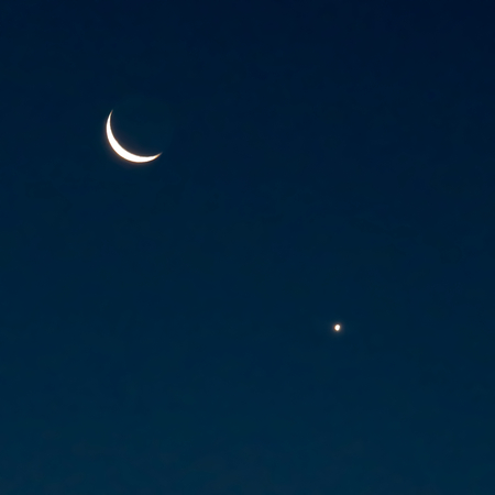 New Moon And Venus In The Morning Stock Photo, Picture And Royalty ...