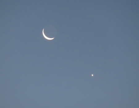waxing gibbous: Morning Moon and Venus