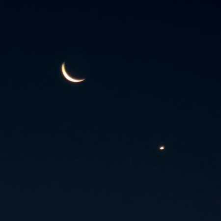 waxing gibbous: Venus and the Moon in the Morning