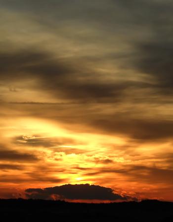 sunup: Golden Sunrise with Graduated Sky