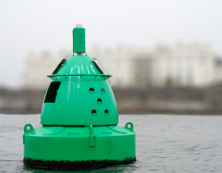 mooring: Marine Green Metal Floating Mooring Buoy