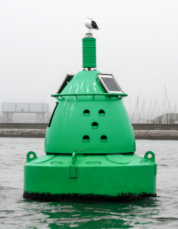 Green Metal Floating Buoy Ships